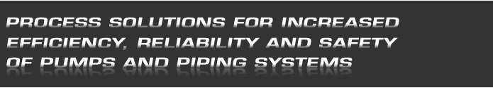 PROCESS SOLUTIONS FOR INCREASED EFFICIENCY, RELIABILITY AND SAFETY OF PUMPS AND PIPING SYSTEMS